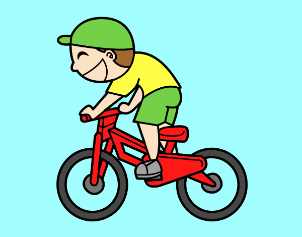 Cyclist child