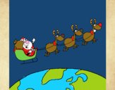 Father Christmas delivering presents 3