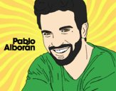 Coloring page Pablo Alborán foreground painted byAnia