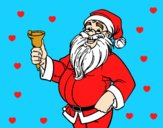 Coloring page  Santa Claus with bell painted byAnia