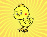 Coloring page The Little Chick Cheep painted byAnia
