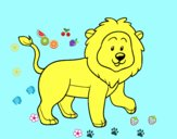 Coloring page Adult lion painted bySai_2012
