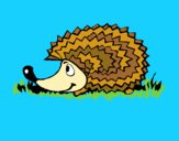 Coloring page Hedgehog painted byLeigh