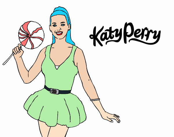 coloring pages katy perry - colored page katy perry with lollipop painted by user not