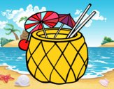 Coloring page Cocktail pineapple painted bylilnae33