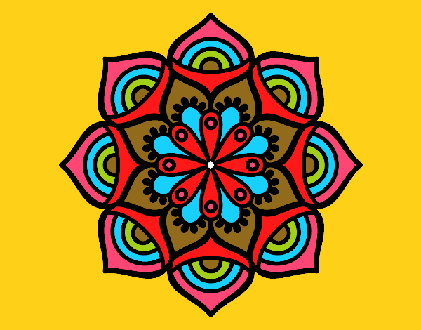 Coloring page Mandala exponential growth painted byfawnamama