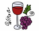 Coloring page Red wine painted bylilnae33