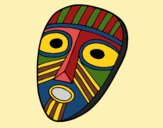 Coloring page Surprised mask painted bydhita