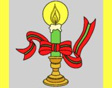 Coloring page Christmas candle II painted byAnia