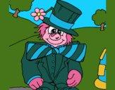 Coloring page Fun clown painted byCherokeeGl