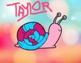 Coloring page The snail painted byCharlotteN
