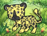 Coloring page Young Cheetah painted byAnia