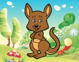 Coloring page A kangaroo painted byAnia