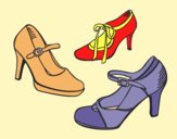Coloring page Court shoes painted byAnia