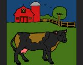 Coloring page Cow out to pasture painted byCherokeeGl