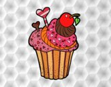 Coloring page Delicious Cupcake  painted byGluppity