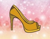 Coloring page Platform shoe painted byAnia