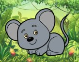 Coloring page A little mouse painted byAnia