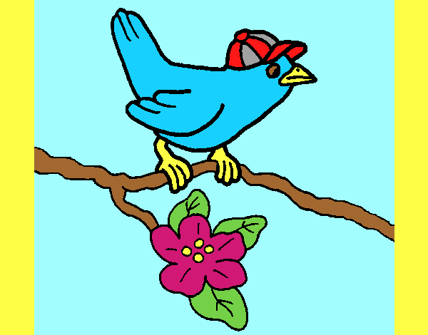 Colored Page Bird Painted By Ania