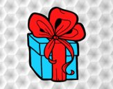 Coloring page Christmas gift painted byAnia