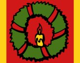 Coloring page Christmas wreath II painted byCherokeeGl