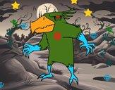 Evil monster bird