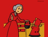 Coloring page Little red riding hood 2 painted byCherokeeGl