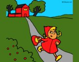 Coloring page Little red riding hood 3 painted byCherokeeGl