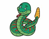 Coloring page  A rattlesnake painted byKeiLam