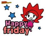 Coloring page Happy friday painted byJennah