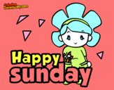 Coloring page Happy sunday painted byJennah