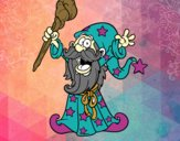 Coloring page Powerful wizard painted byJennah