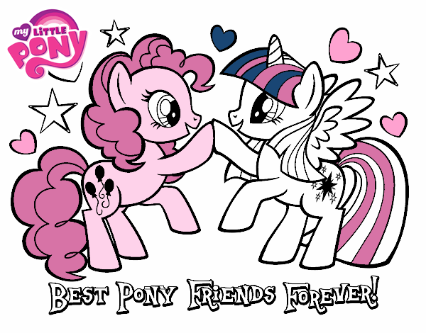 Colored Page Best Pony Friends Forever Painted By User Not Registered