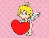 Cupid and a heart