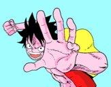 Luffy fighting