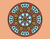 Coloring page Mandala crop circle painted byAnia