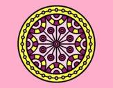 Coloring page Mandala mental balance painted byAnia