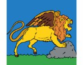 Coloring page Winged lion painted bygrangegirl