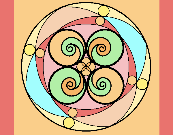 Colored Page Mandala 5 Painted By Ania