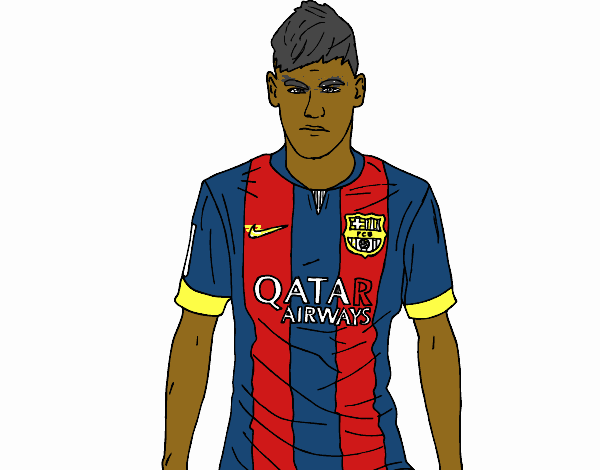 Colored Page Neymar Jr Painted By User Not Registered