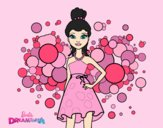 Coloring page Barbie Pink Princess painted byAnia