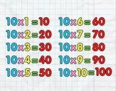 Coloring page The 10 times table painted byAnia