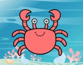 Coloring page A sea crab painted bysophia