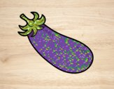 Coloring page Organic eggplant painted bysophia