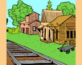 Coloring page Train station painted byAnia