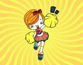 A girl Cheerleader