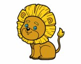 Coloring page Little lion painted byel_chopo