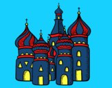 Coloring page Saint Basil's Cathedral from Moscu painted bybianca