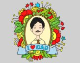 Coloring page I love Dad painted byAnia