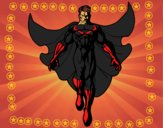 A Superhero flying